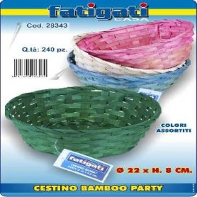 Cestino Bamboo Party 22x h.8 cm