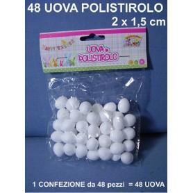 Uovo di Polistirolo 2 cm 48 pz