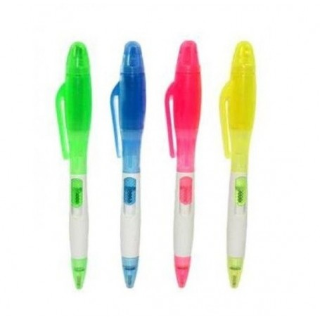 Due Esse Penna Con Evidenziatore Colori Assortiti
