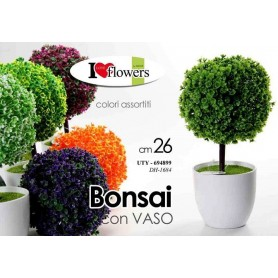 Gicos Piantina Bonsai Finta Con Vaso Colori Assortiti