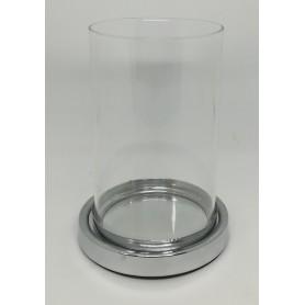 Porta candele in vetro + accessorio