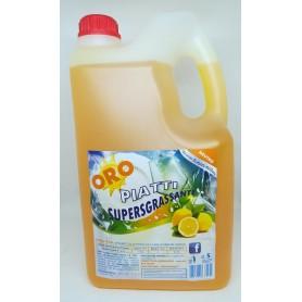 Detersivo piatti Supersgrassante al Limone Oro 5lt