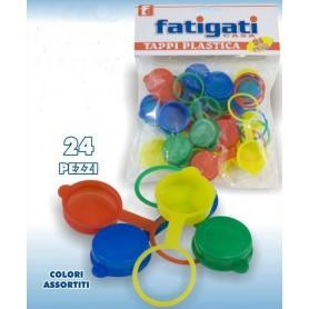 Tappo in plastica colorato 24pz