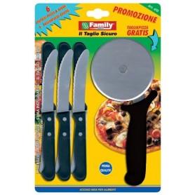 6 Coltelli + Taglia Pizza
