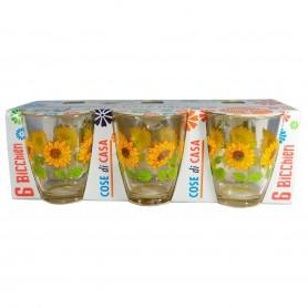 Bicchieri Decorati 3 Pz.